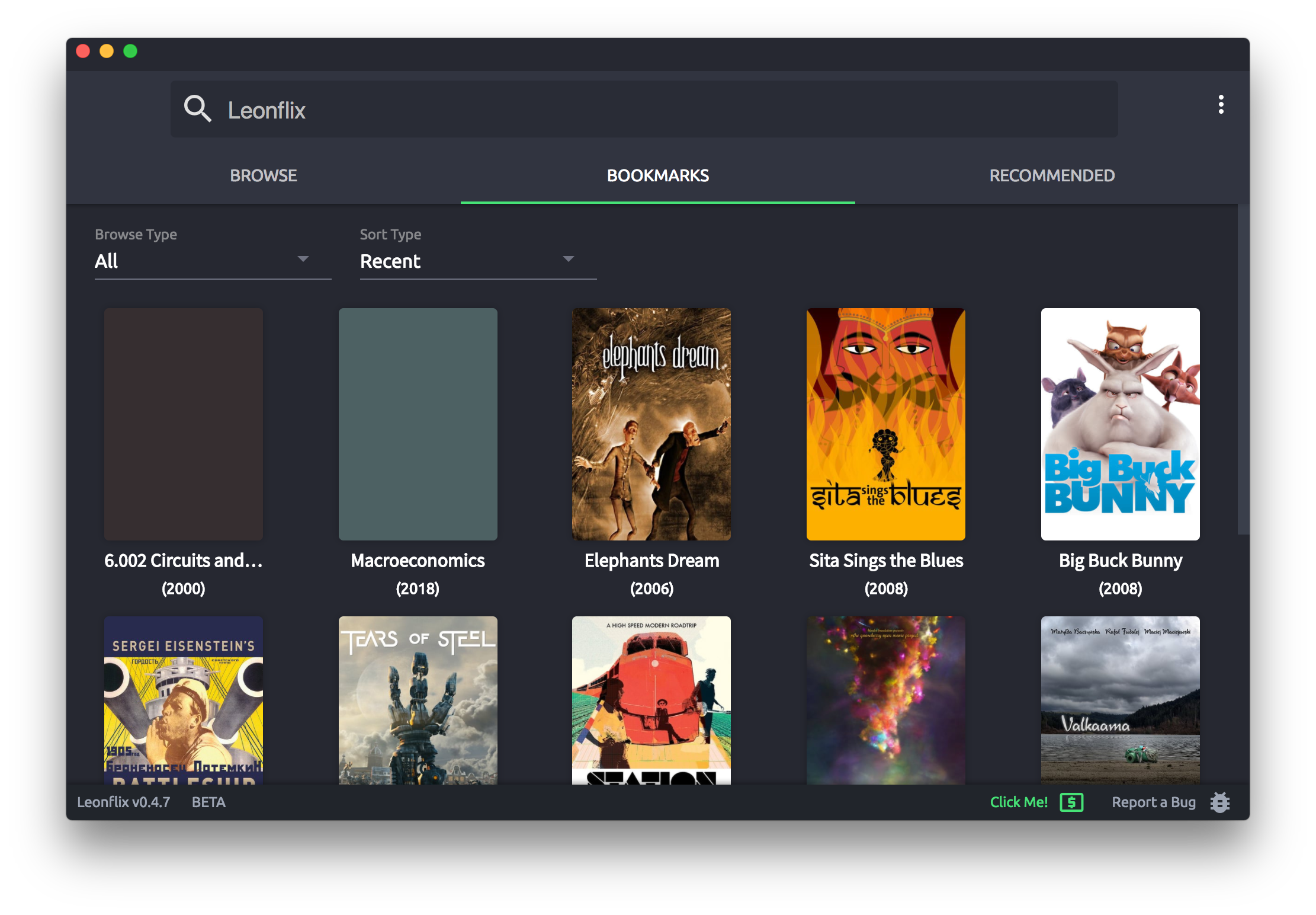 Screenshot of Leonflix